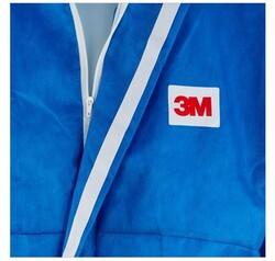 3M 4532 Beyaz Sırt Üçgenli AR Mavi Tulum - Thumbnail