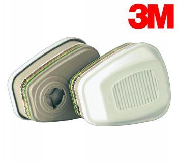 3M 6099 A2BEK2P3 Organik İnorganik Asit Amonyak Gaz Buhar Fitresi