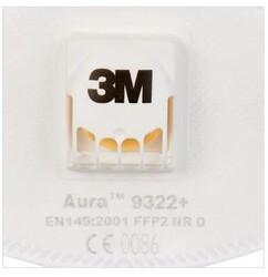 3M 9322A FFP2 Ventilli Toz Maskesi - Thumbnail