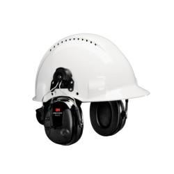 3M - 3M PELTOR ProTac III Kulaklık, 25 dB, İnce Tasarım, Siyah, Barete Takılabilir, MT13H220P3E