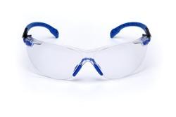 3M - 3M Solus Mavi / Siyah Kenar Kit Şeffaf Güvenlik İş Gözlüğü
