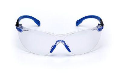 3M Solus Mavi / Siyah Kenar Kit Şeffaf Güvenlik İş Gözlüğü
