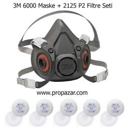3M - 3M Yarım Yüz Maske ve P2 Filtre Seti