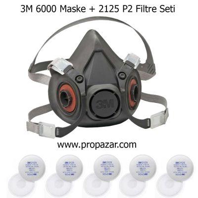 3M Yarım Yüz Maske ve P2 Filtre Seti