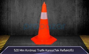 520 mm Kırılmaz Trafik Konisi ( Tek Reflektifli ) MFK3152