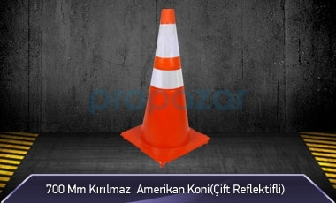 700mm Kırılmaz Amerikan Koni ( Çift Reflektifli ) MFK3200