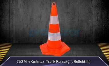750mm Kırılmaz Trafik Konisi 2KG ( Çift Reflektifli ) MFK3275