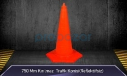 MFK - 750mm Kırılmaz Trafik Konisi 2KG ( Reflektifsiz ) MFK3075