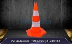 MFK - 750mm Kırılmaz Trafik Konisi 3KG ( Çift Reflektifli ) MFK3276