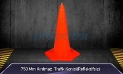 MFK - 750mm Kırılmaz Trafik Konisi 3KG ( Reflektifsiz ) MFK3076