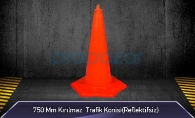 750mm Kırılmaz Trafik Konisi 3KG ( Reflektifsiz ) MFK3076