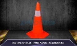MFK - 750mm Kırılmaz Trafik Konisi 3KG ( Tek Reflektifli ) MFK3176