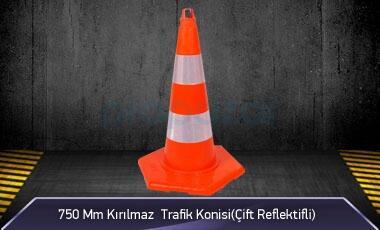 750mm Kırılmaz Trafik Konisi ( Çift Reflektifli ) MFK 1032 - 3276