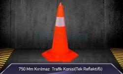 MFK - 750mm Kırılmaz Trafik Konisi ( Tek Reflektifli ) MFK1033