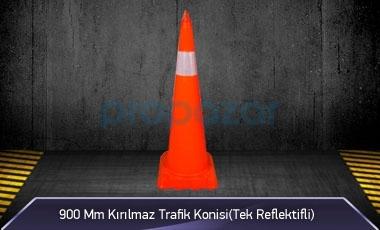 900mm Kırılmaz Trafik Konisi ( Tek Reflektifli ) MFK3190