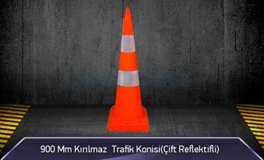 900mm Kırılmaz Trafik Konisi ( Çift Reflektifli ) MFK 1040 - 3290