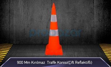 900mm Kırılmaz Trafik Konisi ( Çift Reflektifli ) MFK3290