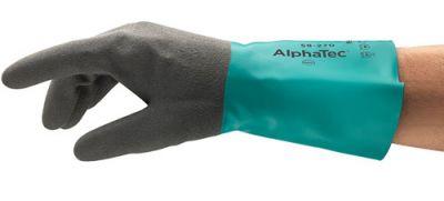 Ansell AlphaTec 58-270 Yağ ve Sıvı Geçirmez Kimyasal İş Eldiveni