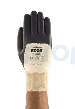 Ansell Edge 40-400 Mekanik Korumalı Yağ Tutmaz Nitril İş Eldiveni