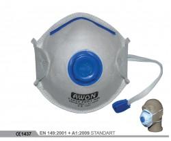 Awon - Awon 1101V Ventilli FFP1 NR Toz Maskesi