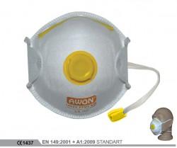 Awon - Awon 1200V FFP2 NR Ventilli Toz Maskesi