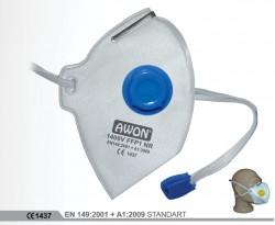 Awon - Awon 1400V FFP1 NR Ventilli Katlanabilir Toz Maskesi