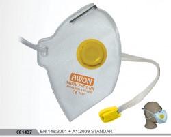 Awon - Awon 1402V FFP2 NR Ventilli Katlanabilir Toz Maskesi