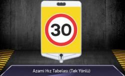 Azami Hız 30 Tabelası Tek Yönlü MFK9306-9307 - Thumbnail