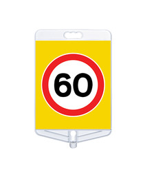 Azami Hız 60 Tabelası Tek Yönlü MFK9308 - Thumbnail