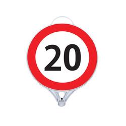 Azami Hız 20 Tabelası Tek Taraflı MFK9112 - Thumbnail