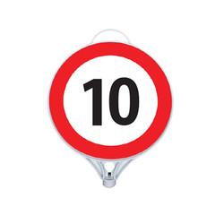 Azami Hız 10 Tabelası Tek Taraflı MFK9111 - Thumbnail