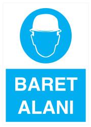Propazar - Baret Alanı İş Güvenliği Levhası - Tabelası