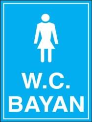 Propazar - Bayan Kadın WC Levhası - Tabelası