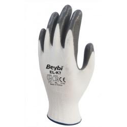 Beybi - Beybi ELK 7 Gri Beyaz Nitril Eldiven - 288 adet