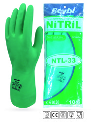 Beybi - Beybi Korun NTL 33 Kimyasal Dirençli Nitril İş Eldiveni