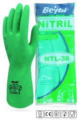 Beybi - Beybi Korun NTL 38 Kimyasal Dirençli Nitril İş Eldiveni