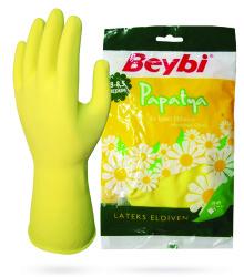 Beybi - Beybi Papatya Lateks İş Eldiveni (Ev Tipi)
