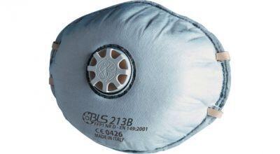 BLS 213B FFP1 NR D Ventilli Aktif Karbonlu Konik Toz Maskesi