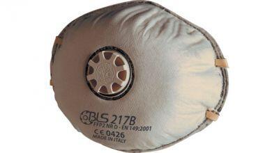BLS 217B FFP2 NR D Aktif Karbonlu Ventilli Konik Toz Maskesi