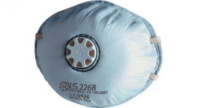 BLS 226B FFP2 NR D Aktif Karbonlu Ventilli Konik Toz Maskesi
