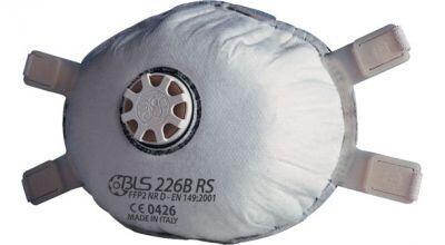 BLS 226B RS FFP2 NR D Aktif Karbonlu Konik Toz Maskesi