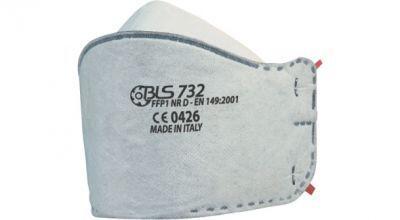 BLS 732 FFP1 NR D Aktif Karbonlu Katlanabilir Toz Maskesi