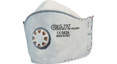 BLS 737 FFP2 NR D Aktif Karbonlu Katlanabilir Toz Maskesi