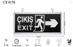 Cata - Cata CT9170 Exit Acil Çıkış Armatürü