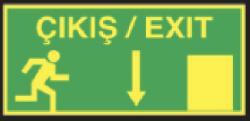 Starline - Çıkış / Exit Aşağı Ok Tabelası