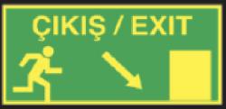 Starline - Çıkış / Exit Sağ Aşağı Ok Tabelası