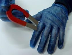 Detectamet - DTM0100 Detectable Algılanabilir Vinil Eldiven Tek Kullanımlık - 4 Paket