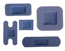 Detectamet - Detectable DTM 1104 Algılanabilir Yara Bandı Mavi 400 Adet