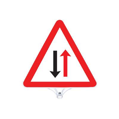 Dikkat İki Yönlü Trafik Tabelası Çift Taraflı MFK9203