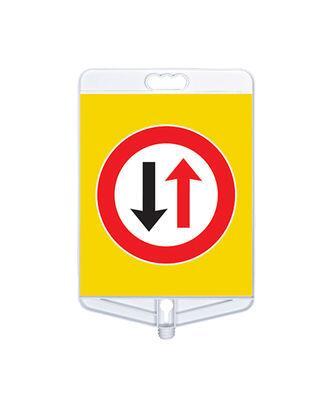 Dikkat İki Yönlü Trafik Tabelası Çift Taraflı MFK9303